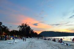 Sunset at the Patong beach, Phuket, Thailand Royalty Free Stock Photo