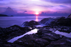 Sunset in Patong Cliff Royalty Free Stock Images
