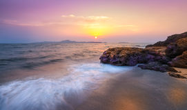 Sunset at pattaya beach. The most famost beach in thailand. Photo of Sunset at pattaya beach. The most famost beach in thailand Royalty Free Stock Photography