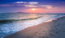 Sunset at pattaya beach. The most famost beach in thailand. Photo of Sunset at pattaya beach. The most famost beach in thailand Royalty Free Stock Photos