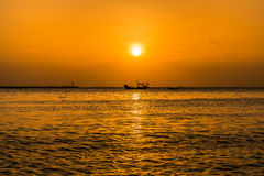 Sunset on pattaya beach Royalty Free Stock Image