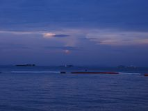 Sunset at Pattaya Stock Images