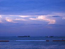 Sunset at Pattaya Stock Photography