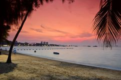 Sunset at Pattaya Stock Photo