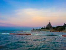 Sunset at Pattaya. Sunset and sea at Pattaya, Thailand Stock Images
