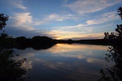 Sunset on Paurotis Pond in Everglades National Park. Sunset on Paurotis Pond in Everglades national Park, Florida royalty free stock photo