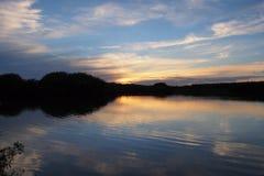 Sunset on Paurotis Pond in Everglades National Park. Sunset on Paurotis Pond in Everglades national Park, Florida stock image