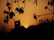 Sunset. Peace out with beauty of nature . The beauty that never fades away Stock Image