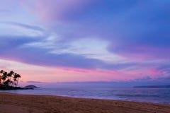 Sunset. A peaceful sunset on a Hawaiian beach Stock Photos