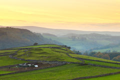 Sunset in the Peak District. A landscape shot of the Peak District in Derbyshire at sunset Royalty Free Stock Photos