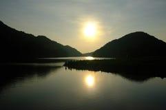Sunset on peak lake 1 Royalty Free Stock Photography