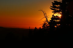 Sunset at the peak. This is a sunset off Ralston Trail, El Dorado County Royalty Free Stock Photos