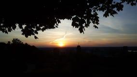Sunset Peak. Stunning sunset over the horizon of the Hammer Royalty Free Stock Photo