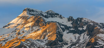 Sunset on the Peaks Royalty Free Stock Photography