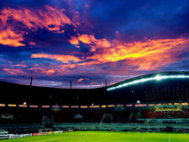 Sunset at Pekansari Stadium. The Collection of The Beauty Around Java and Bali Island. Holiday Vibes Stock Photography