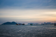 Sunset at penang Stock Images