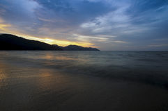 Sunset at Penang Malaysia . Royalty Free Stock Image