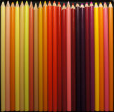 Sunset Pencil Crayons. Warm coloured pencil crayons Stock Images