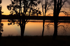 Sunset Penrith Lakes Australia Royalty Free Stock Photo