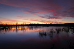 Sunset Penrith Lakes NSW Australia Royalty Free Stock Images