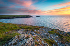 Sunset at Pentire Royalty Free Stock Photos