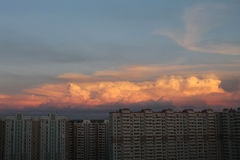 Sunset. Perfect clouds in Moscow, sunset Stock Images