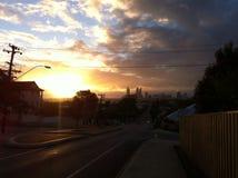 Sunset Perth, Australia. Sunset over the skyline of Perth, Australia Stock Photos