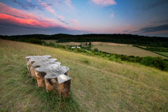 Sunset on Pewley Down Stock Photography