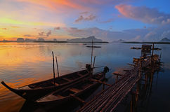 Sunset at Phang Nga Stock Image