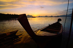 Sunset in Phang Nga Royalty Free Stock Photography
