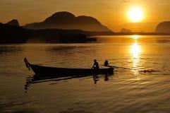 Sunset in Phang Nga Stock Photo