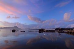 Sunset at Phang Nga ,Thailand Royalty Free Stock Photography