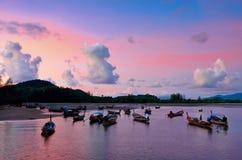 Sunset at Phang Nga ,Thailand Stock Photos
