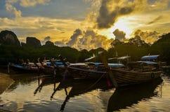 Sunset. Phi phi island Royalty Free Stock Image