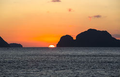 Sunset on the Philippine Islands Royalty Free Stock Photos