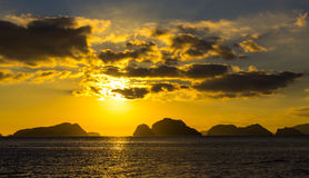 Sunset on the Philippine Islands Stock Photography