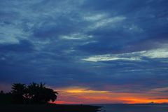 After sunset. The Philippine Sea at sunset Royalty Free Stock Photo