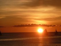 Sunset in the Philippines Royalty Free Stock Photos