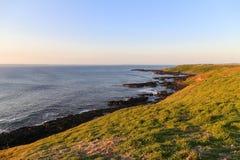 The sunset on phillip island,australia Stock Image
