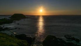 The sunset on phillip island,australia Royalty Free Stock Photos