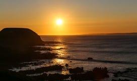 The sunset on phillip island,australia Royalty Free Stock Image