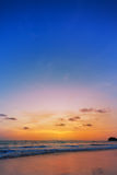 Sunset on phiphi island Royalty Free Stock Photography