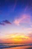 Sunset on phiphi island Royalty Free Stock Photography