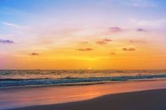 Sunset on phiphi island Stock Photo