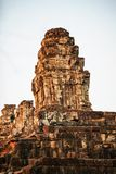 Sunset of Phnom Bakheng, one of the ruined temples of ancient Cambodia. Sunset of Phnom Bakheng, one of the ruined temples of ancient Cambodia in Siem Reap Royalty Free Stock Photography