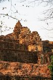 Sunset of Phnom Bakheng, one of the ruined temples of ancient Cambodia. Sunset of Phnom Bakheng, one of the ruined temples of ancient Cambodia in Siem Reap Royalty Free Stock Photos