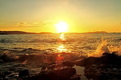 Sunset. Photo of a sunset on Ibiza Stock Photos