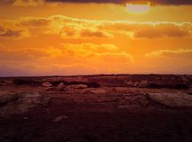 Sunset. Photo manipulation Royalty Free Stock Image