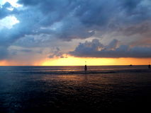 Sunset. Photo of a sunset, sea, clouds Royalty Free Stock Photography