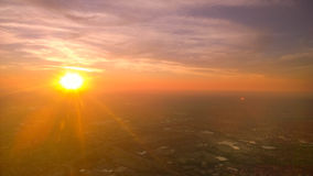 Sunset. Photo taken while flying Delta Stock Image